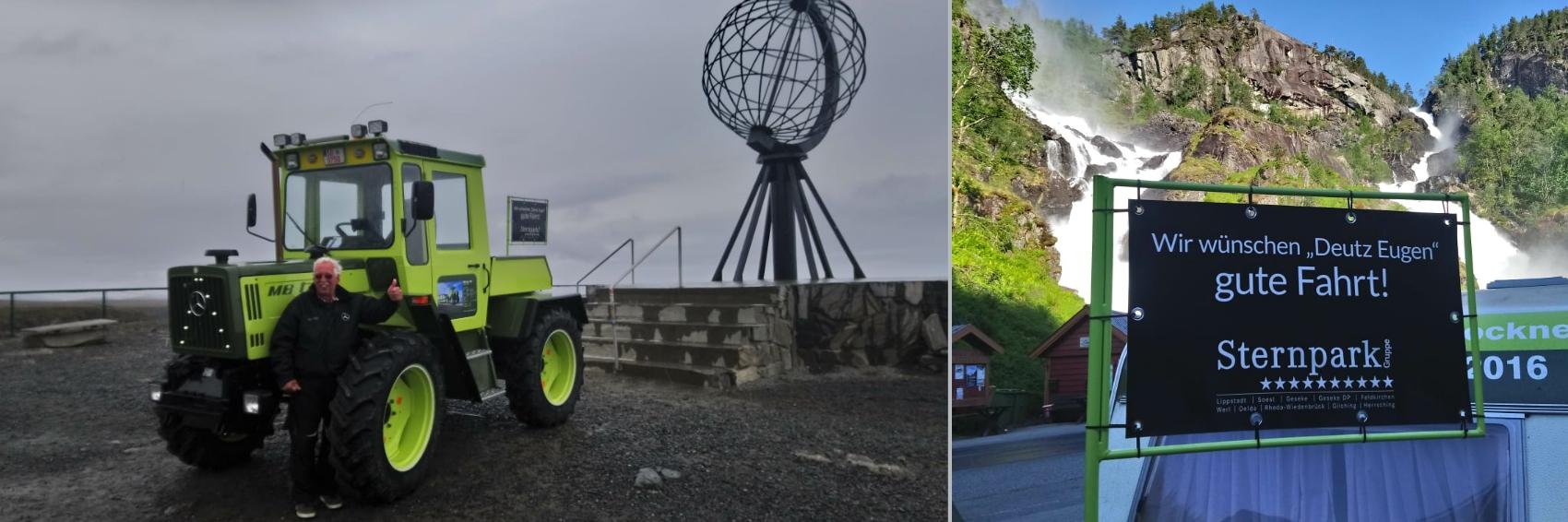 Sternpark-Kunde am Nordkap
