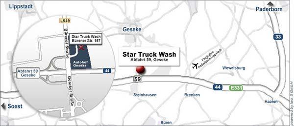 Star-Truck-Wash Anfahrt