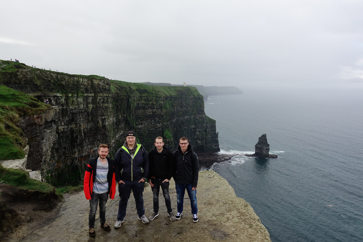 Cliffs of Moher - Gruppenfoto