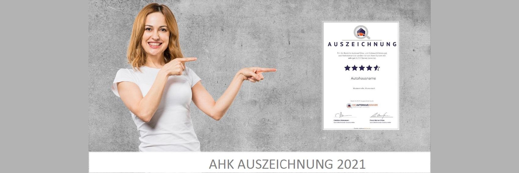 AHK Auszeichnung 2021